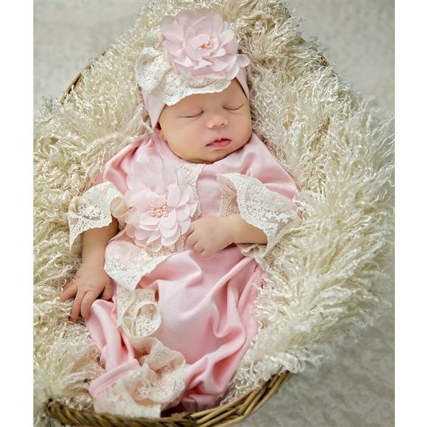 84bfa392be1 CHIC PETIT Baby Girls Flap Cap